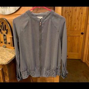 Zip up dressy blouse